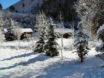 Photos taylor creek cabins for Winter cabin rentals colorado